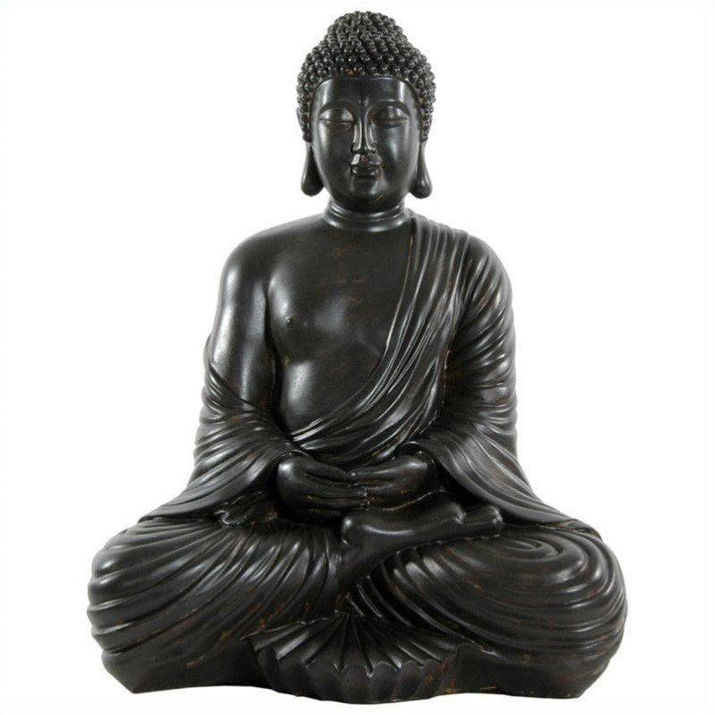 "17"" Japanese Sitting Buddha Statue"
