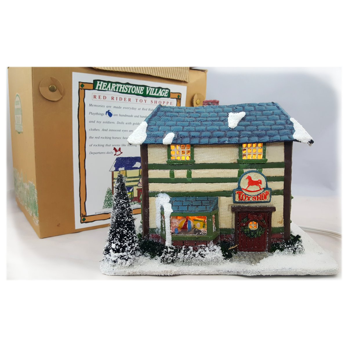 "Silvestri Hearthstone Village Collection ""Red Rider Toy Shoppe"" Lighted House"
