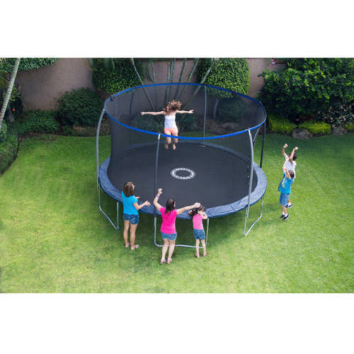 Bounce Pro 14-Foot Trampoline, Electron Shooter Game, Dark Blue