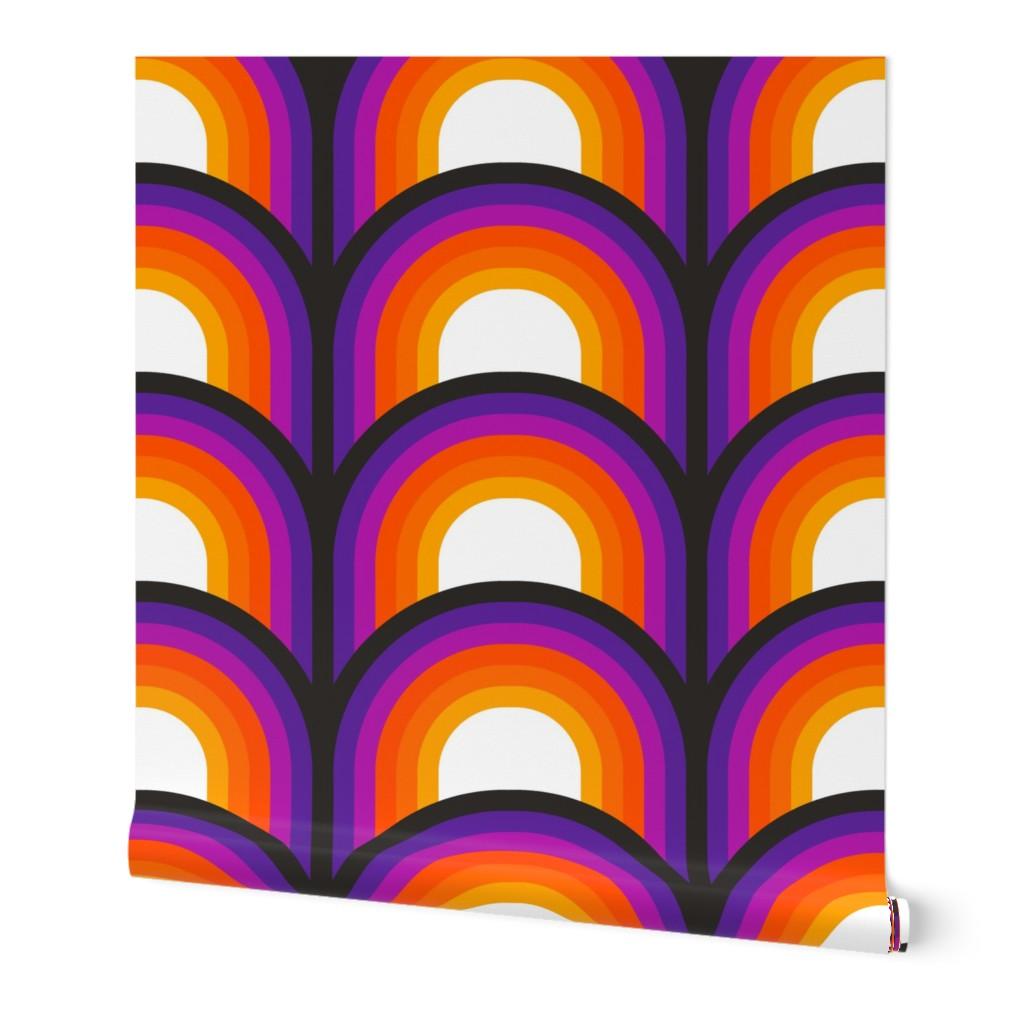 Wallpaper Roll Retro Orange Red Purple Black Decor Mod 20S 20in x 20ft