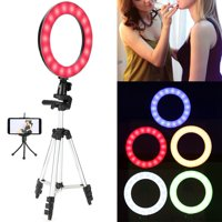 WALFRONT 10  LED Ring Fill Light with Stand Dimmable LED Fill Light Kit For Video Live Makeup,Fill Light, LED Fill Light