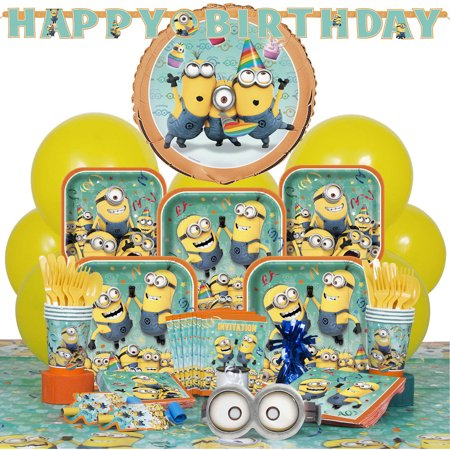 Deluxe Despicable Me Minions Party Supplies Kit for 8