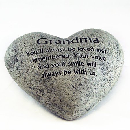 Gerson Heart Shaped Memorial Stone, Grandma
