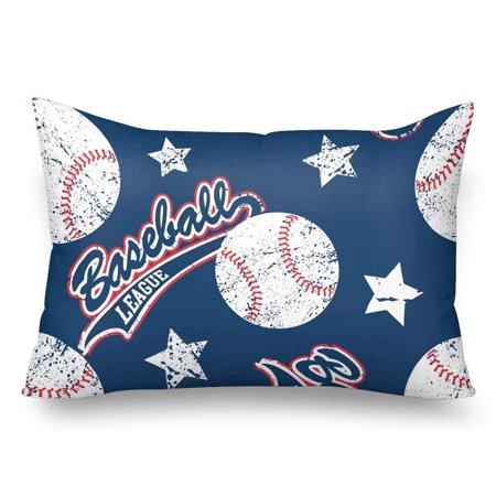 GCKG Baseballs Stars Seamless Pattern Pillow Cases Pillowcase 20x30 inches - image 4 de 4