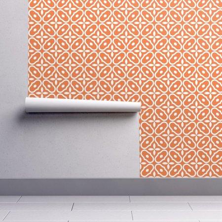 Peel-and-Stick Removable Wallpaper Mosaic Tile Mosaic Tile Orange Modern Home