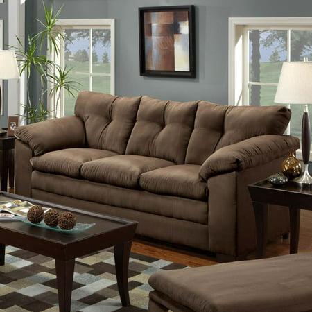 Simmons Luna Chocolate Microfiber Sofa