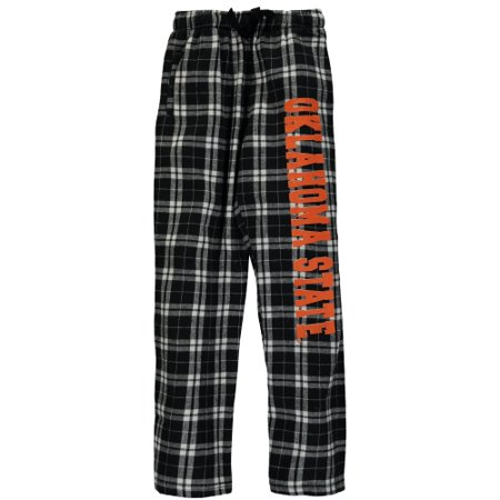Oklahoma State Cowboys Youth Plaid Flannel Pants - Black (Cowboy Pants)