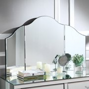 Inspired Home Liliana Frameless Trifold Tabletop Vanity Mirror - 32.5W x 20.9H in.