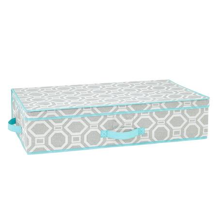 closetcandie dove grey under the bed storage box. Black Bedroom Furniture Sets. Home Design Ideas