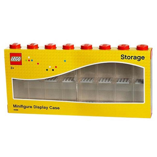 Room Copenhagen 40660601 16 Lego Minifigure Display Case - Bright Red