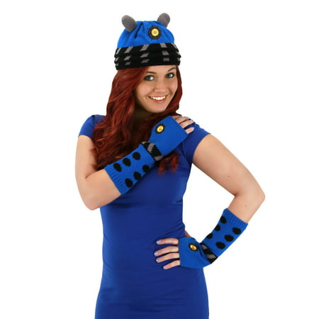 Doctor Who Blue Adult Costume Dalek Beanie Hat - Plague Doctor Hat