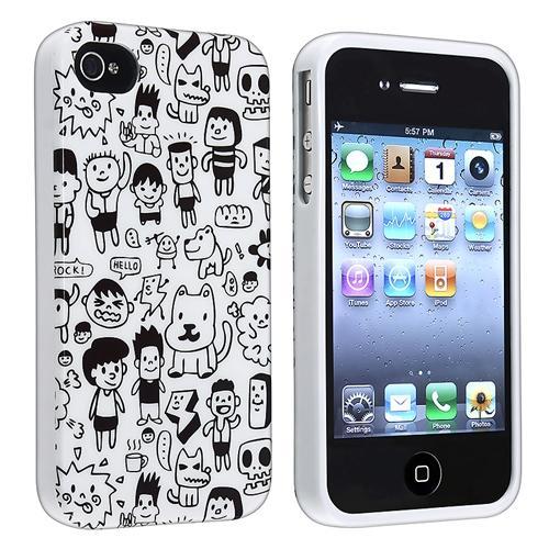 INSTEN TPU Rubber Case For Apple iPhone 4/ 4S, Cartoon