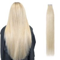 """S-noilite 14 Colors Remy Tape in Hair Extensions Skin Weft Human Hair Extensions 20pcs/pack Black,16 """"-50g"""