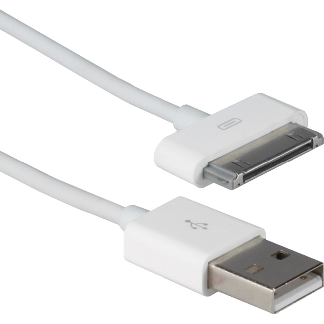 QVS 1.5-Meter USB Sync & 2.1Amp Charger Cable for iPod/iPhone & iPad/2/3 - White