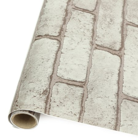 Meigar 3D Roll Natural Embossed Brick Wallpaper 39.4