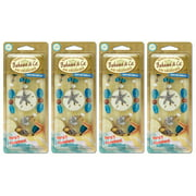 4-Pack Bahama & Co Sand Dollar Necklace - Tahitian Vanilla Air Freshener
