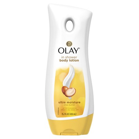 Olay Ultra Moisture Shea Butter In-Shower Body Lotion, 15.2 fl