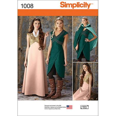 Simplicity Misses' Fantasy Costumes, 6-8-10-12