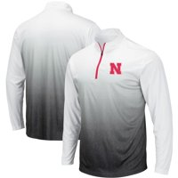 Nebraska Cornhuskers Colosseum Magic Team Logo Quarter-Zip Jacket - Gray