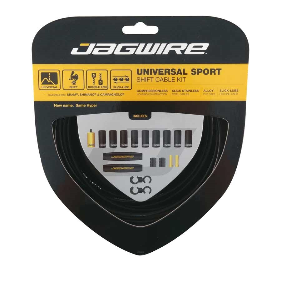 Jagwire, Universal Sport, Complete derailleur cable & housing kit, SRAM/Shimano/Campagnolo, 4mm, Black