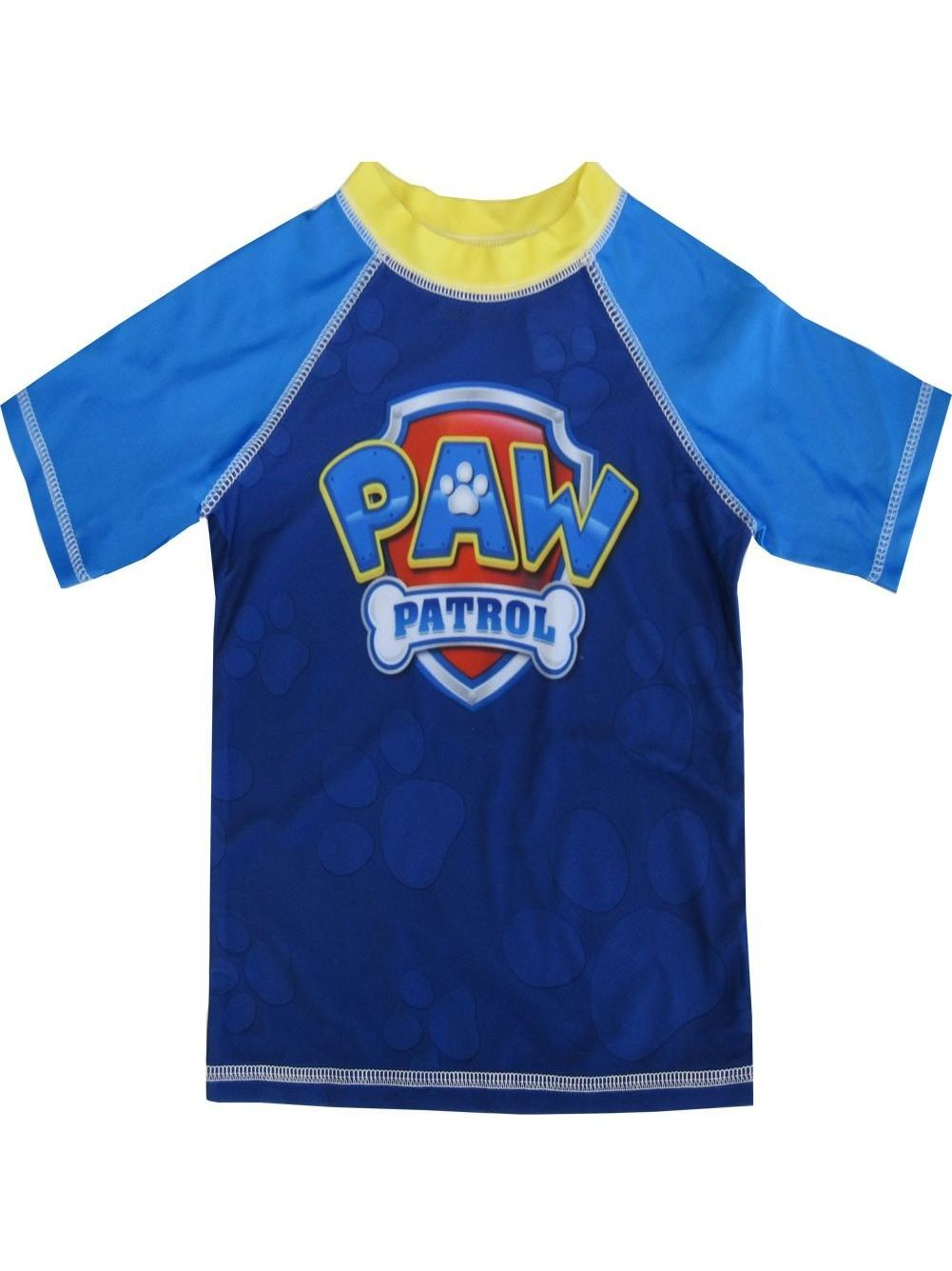 Nickelodeon Little Boys Royal Blue Paw Patrol Rash Guard Swimwear Shirt 2-4T