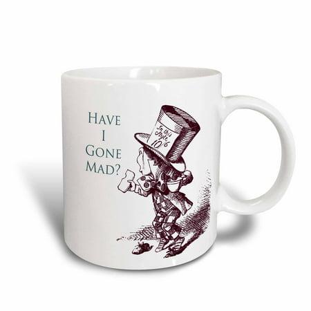 Alice In Wonderland Gifts (3dRose Mad Hatter Have I gone Mad Alice in Wonderland, Ceramic Mug,)