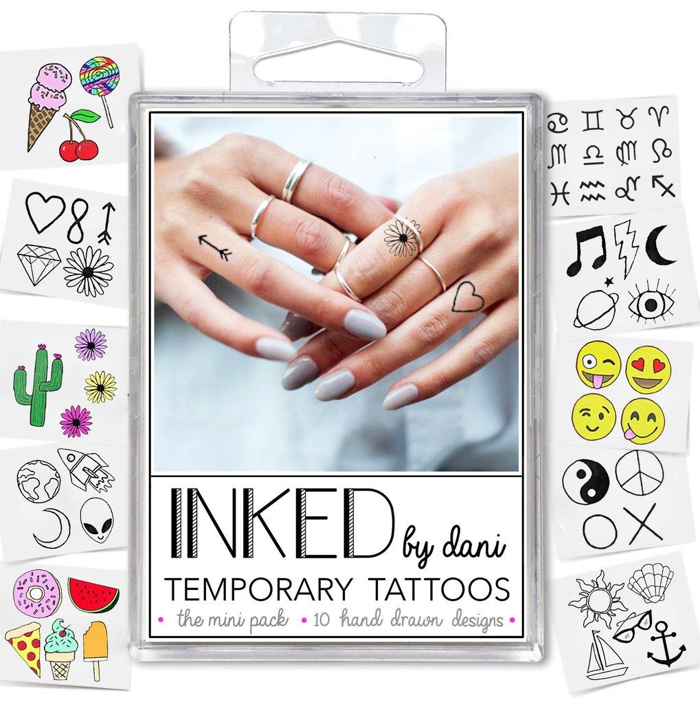INKED by Dani Mini Temporary Tattoo Pack