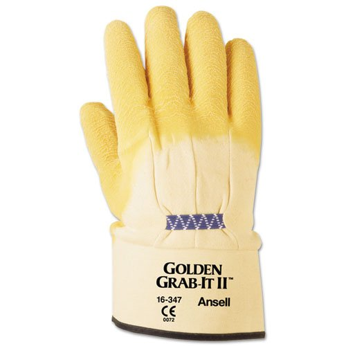 ANSELL 1634710 Golden Grab-it Ii Heavy-duty Work Gloves, ...