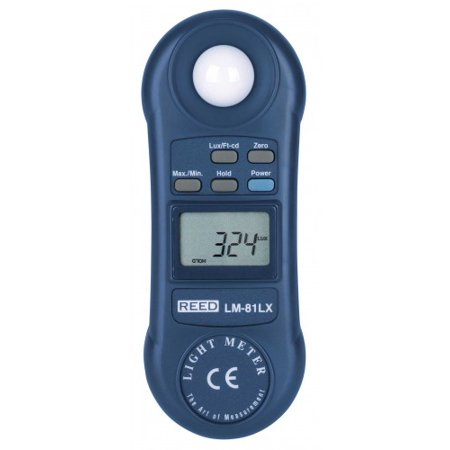 REED LM-81LX Compact Light Meter, 20,000 Lux / 2,000 Foot Candles