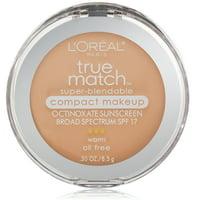 L'Oreal Paris True Match Super-Blendable Compact Makeup, W2 Light Ivory - 0.3 oz. (8.5 g)