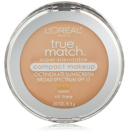 L'Oreal Paris True Match Super-Blendable Compact Makeup, W2 Light Ivory - 0.3 oz. (8.5 g)