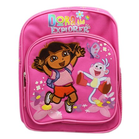 Dora the Explorer Dora and Boots Pink Floral Mini Backpack (10in)