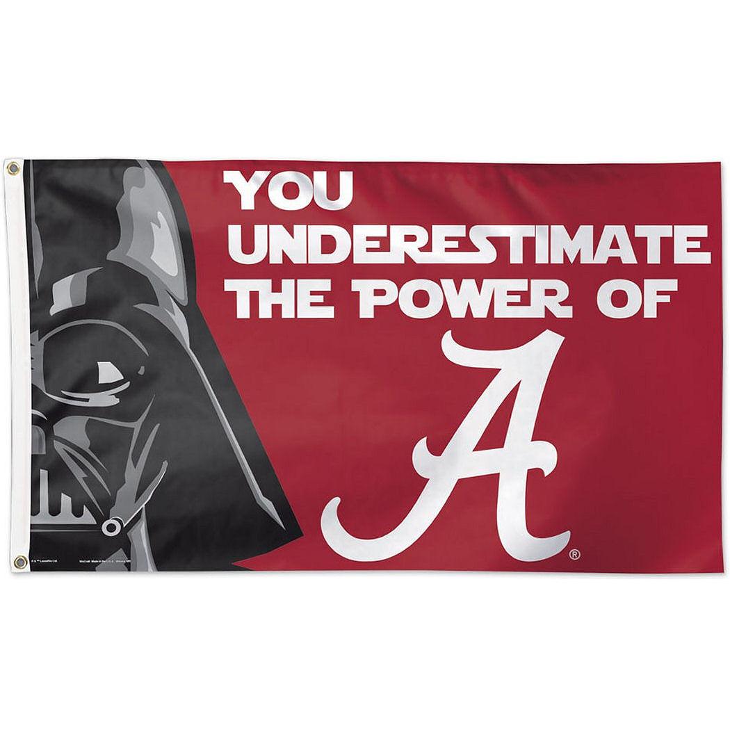Alabama Crimson Tide Official NCAA 3'x5' Star Wars Darth Vader Banner Flag by Wincraft