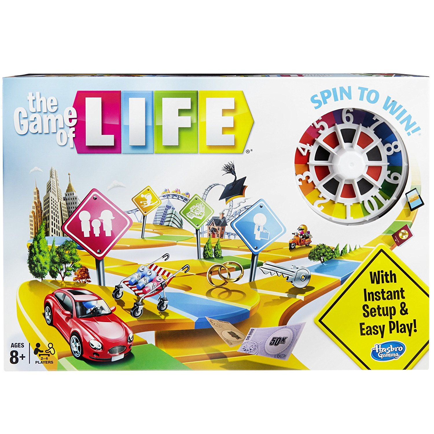 The Game of Life Game, Kids' top career choices included in this game By Hasbro by