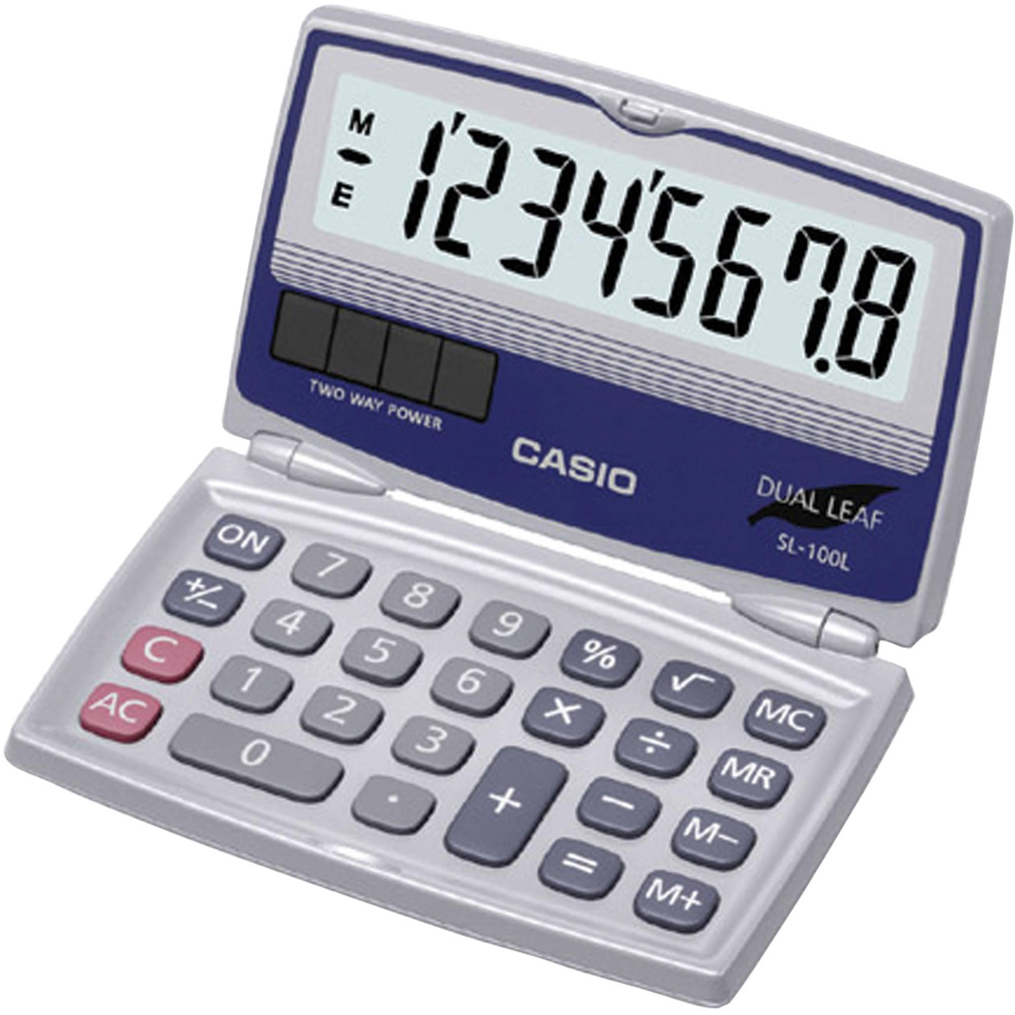 Casio SL-100L 8-Digit Folding Case Calculator
