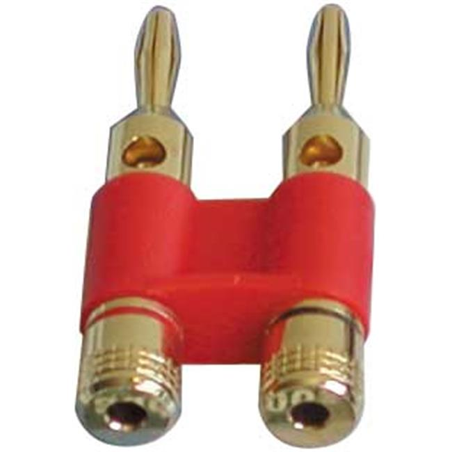 Dual Banana Connector Solid Brass and Gold plated