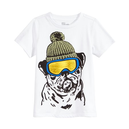 Epic Threads Boys Snow Dog Graphic-Print T-Shirt