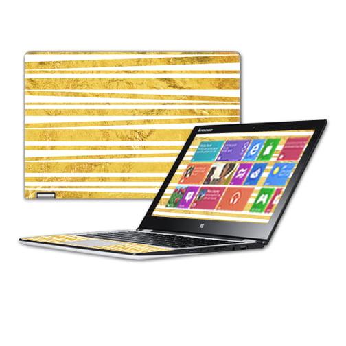 "MightySkins Protective Vinyl Skin Decal for Lenovo Yoga 3 11.6""  wrap cover sticker skins Gold Stripes"