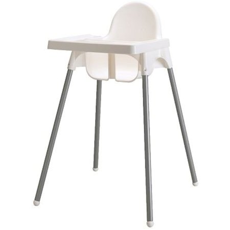 Pleasant Ikeas Antilop Highchair With Safety Belt White Silver Short Links Chair Design For Home Short Linksinfo