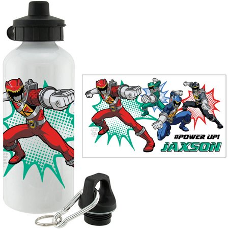 personalized power rangers dino charge power up sports bottle. Black Bedroom Furniture Sets. Home Design Ideas