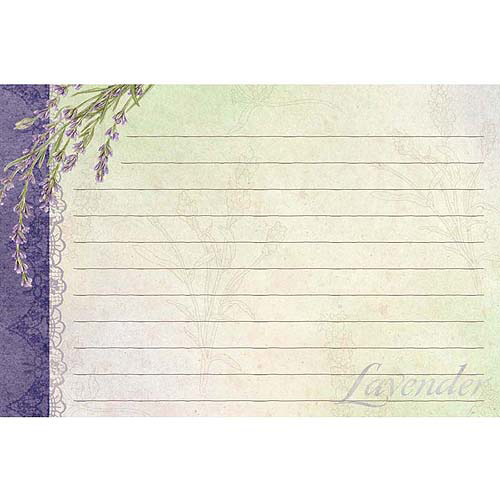 "Lang Lavender Recipe Cards, 4"" x 6"", 36-Pack"