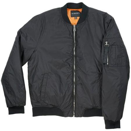 M Society MA-1 Bomber Jacket Black Mens