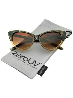 1b05e80823 zeroUV - Women s Retro Oversized High Point Cat Eye Sunglasses 55mm - 55mm