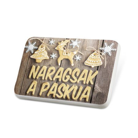 Porcelein Pin Merry Christmas in Ilocano from Philippines Lapel Badge –  NEONBLOND