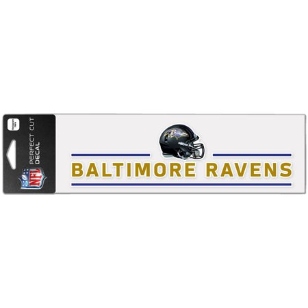 """Baltimore Ravens WinCraft 3"""" x 10"""" Helmet Perfect Cut Decal - No Size"""