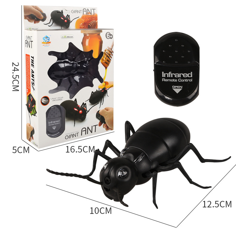 Infrared Remote Control Mock Fake Big Ant RC Toy Prank Reptile Insects Joke Scary Trick Bugs for Kid