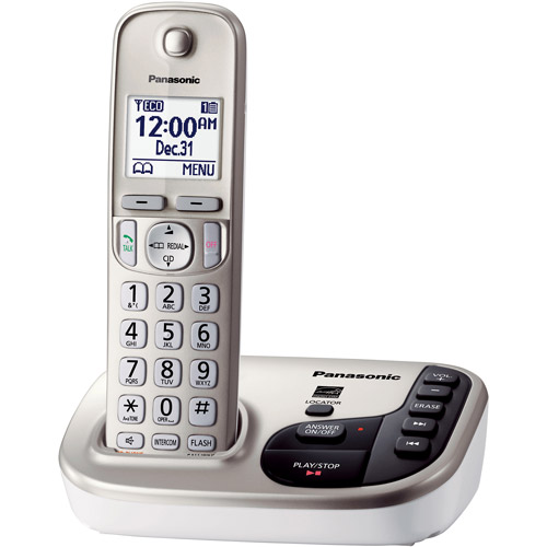 Panasonic KX-TGD220N Expandable Digital Cordless Answering System with 1 Handsets