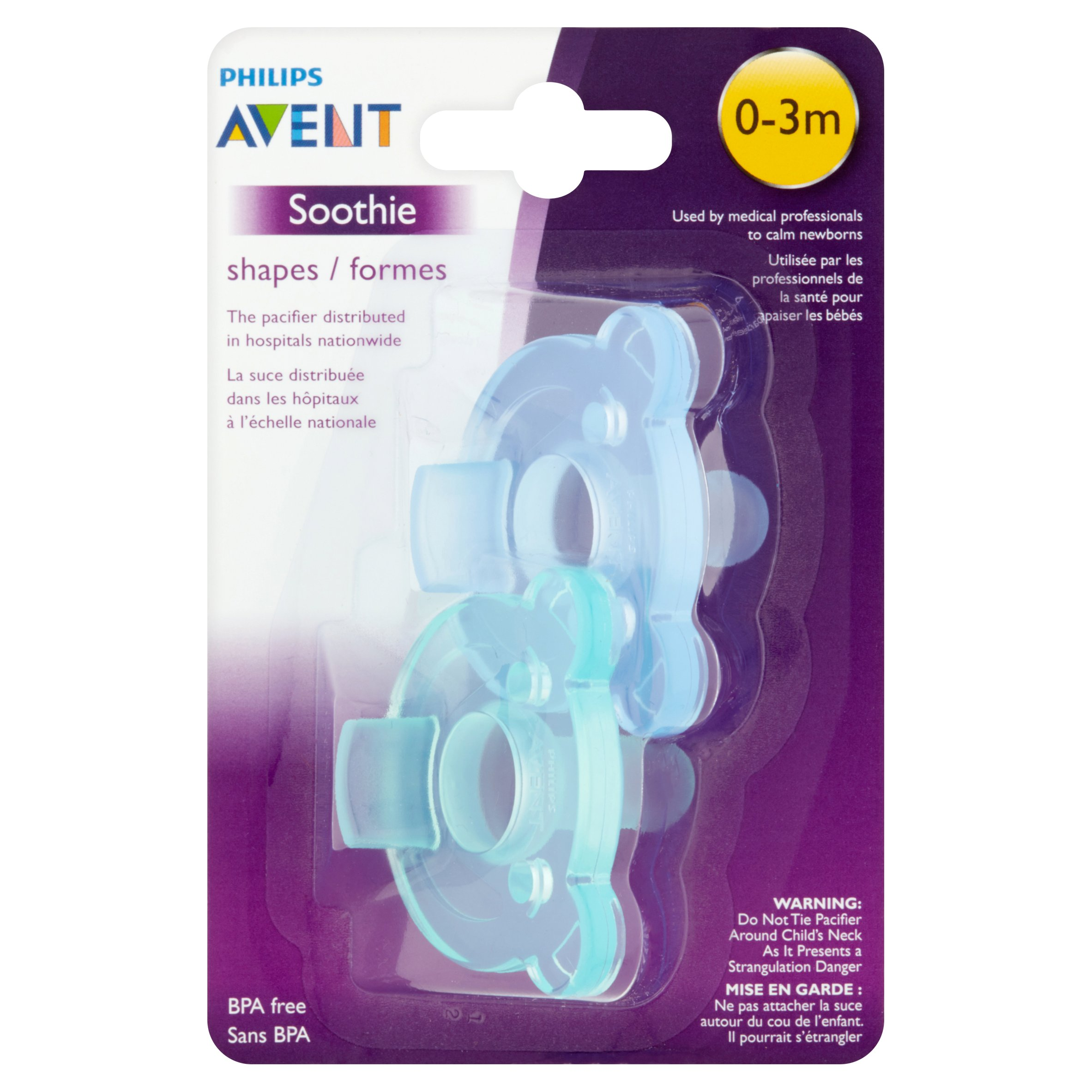 Philips Avent Soothie Pacifier 0-3 Months, 2 Count