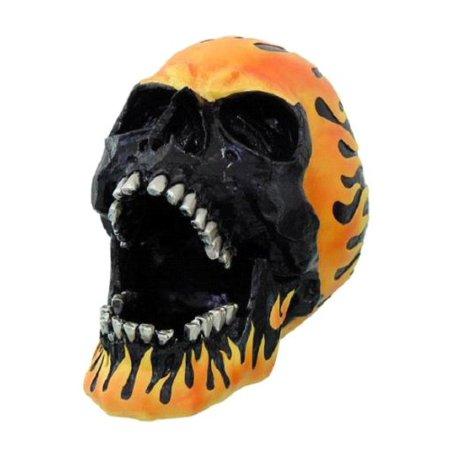 Flamed Hot Rod (Flame Hot Rod Skull Ashtray Statue Halloween Decor )