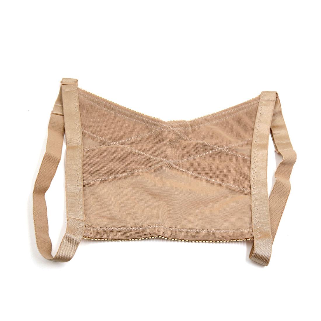 Skin Color L Size Adjustable Woman Humpback Posture Corrector Back Brace Belt